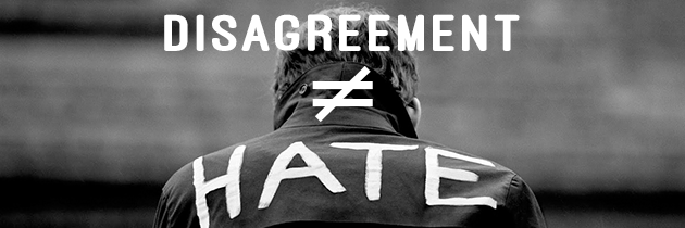 Disagreement ≠ Hate