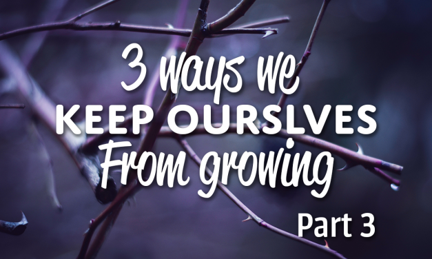 3 Ways We Keep Ourselves From Growing (Part 3)